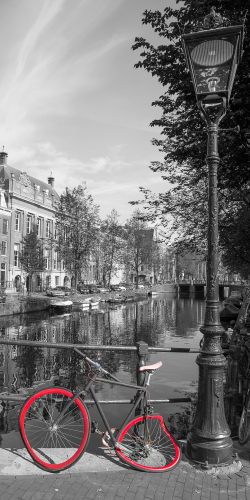 Fiets aan Amsterdamsegrachten