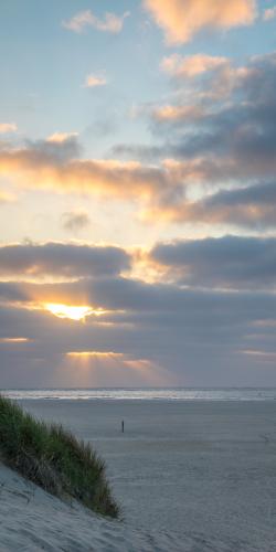 Ondergaande zon Texel