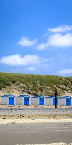 Strandhuisjes op het strand