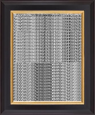 Lijst donkerblauw met goud randje