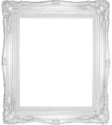 Lijst patroon 9 wit