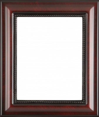 Lijst patroon 7 donkerbruin