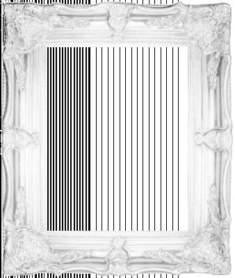 Lijst patroon 8 wit