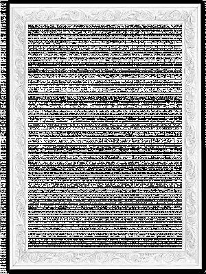 Lijst patroon 3 wit
