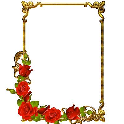 Gouden lijst met bloemen
