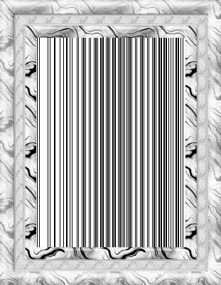 Lijst patroon 6 wit